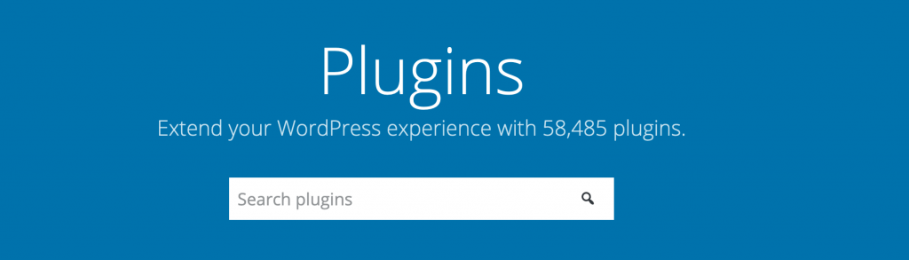 WordPress official plugins page